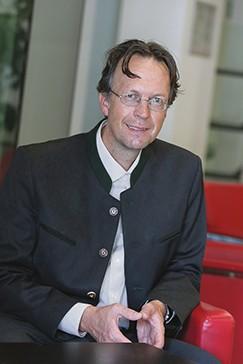"""Prof. Arne Bathke: """"Die Science City Itzling ist eine Erprobungsraum für wissenschaftliche Vernetzung und Technologietransfer."""""""