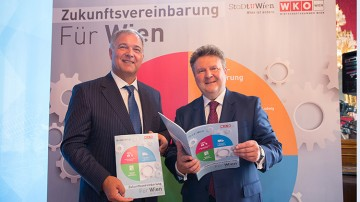 Walter Ruck mit Michael Ludwig