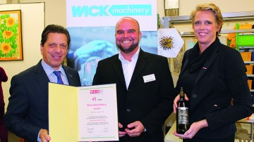 Newsportal 45 Jahre Wick-Machinery  - Art and Factory