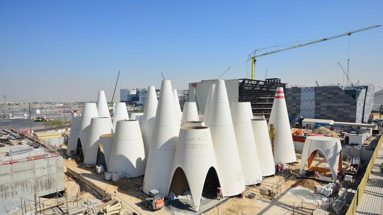 Fertigstellung Rohbau Österreich Pavillon (c) Expo Austria