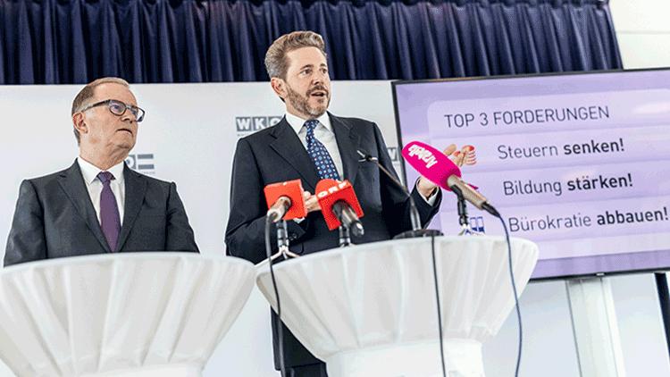 WKÖ-Generalsekretär Karlheinz Kopf und WKÖ-Präsident Harald Mahrer