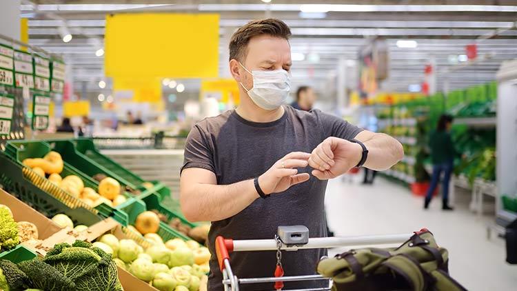 Handel mit MNS-Maske