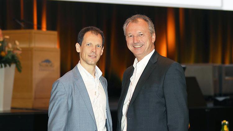 Philipp Graf, Geschäftsführer des Fachverbandes Telekom/Rundfunk, und Fachverbandsobmann Günther Singer