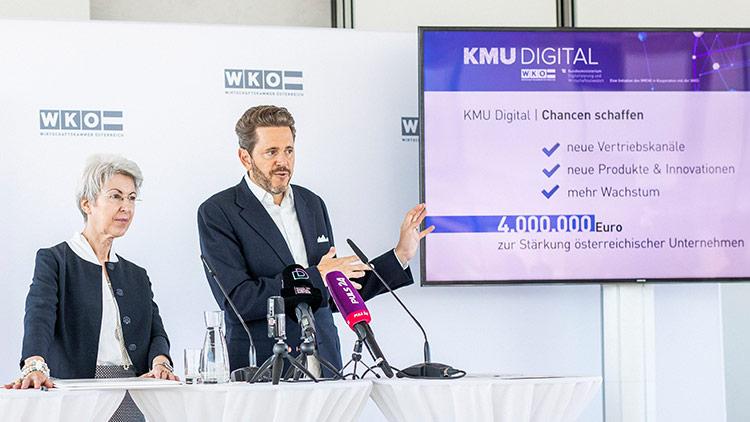 Bundesministerin Udolf-Strobl und WKÖ-Präsident Mahrer