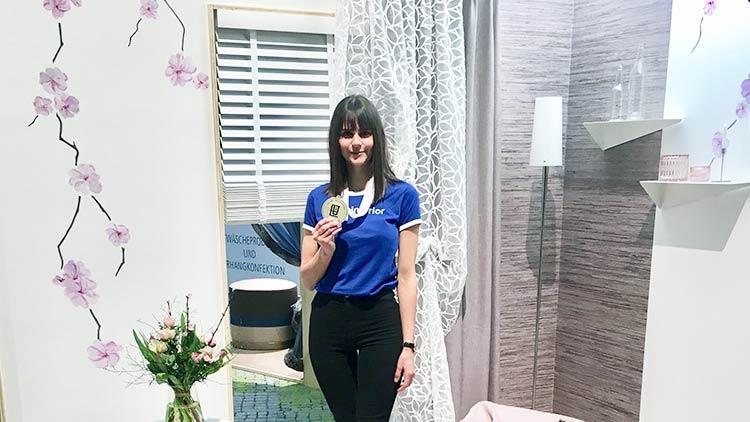 Johanna Obermüller aus Linz errang den 1. Platz beim Europäischen Berufswettbewerb der Raumausstatter