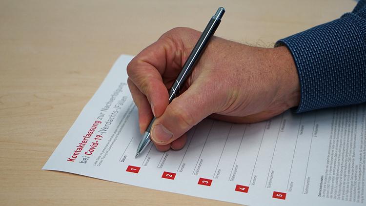 Musterformular zur Gästeregistrierung im Bundesland Salzburg