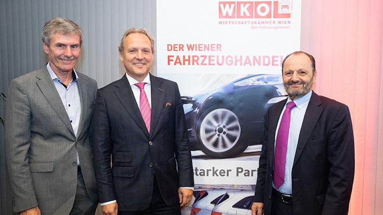 v.l. Ferdinand Dudenhöffer, Werner Girth, Burkhard Ernst