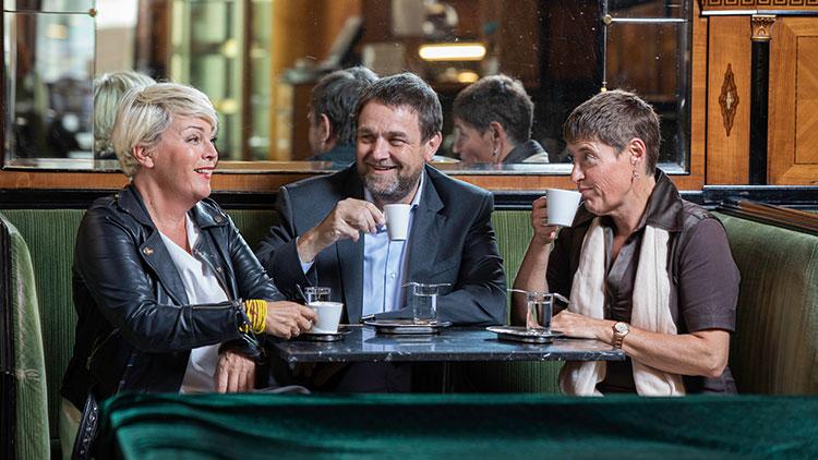 Von links nach rechts Jutta Scheuch, Wolfgang Binder, Gerti Schmidt