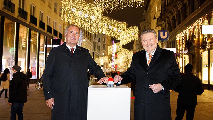 Einschalten der Wiener Weihnachtsbeleuchtung
