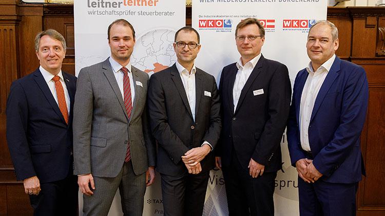 Alexander Schrötter (Sparte Industrie),  A. Lautenschlager (METRO International Holding GmbH, N.  Schrottmeyer (Partner bei LeitnerLeitner), P. Wohlgemuth ( Energie Steiermark AG) und R. Macho (Großbetriebsprüfung BMF).